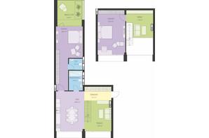 ЖК Новий Поділ: планування 3-кімнатної квартири 110.25 м²