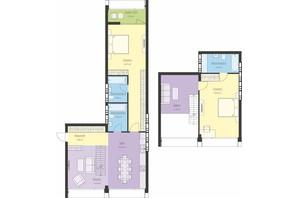 ЖК Новий Поділ: планування 3-кімнатної квартири 122.58 м²