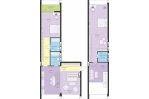 ЖК Новий Поділ: планування 3-кімнатної квартири 131.8 м²