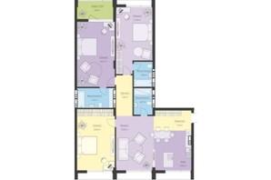 ЖК Новий Поділ: планування 4-кімнатної квартири 137.39 м²