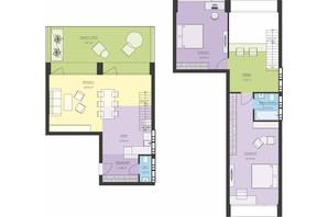 ЖК Новый Подол: планировка 3-комнатной квартиры 112.21 м²