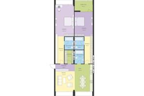 ЖК Новый Подол: планировка 3-комнатной квартиры 123.06 м²