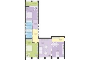 ЖК Новый Подол: планировка 3-комнатной квартиры 96.63 м²