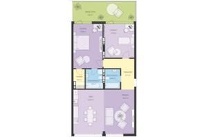 ЖК Новый Подол: планировка 3-комнатной квартиры 102.65 м²