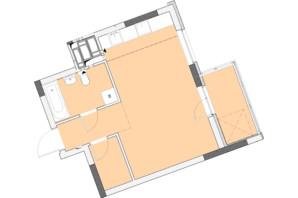 ЖК Нивки-Парк: планировка 1-комнатной квартиры 36.56 м²
