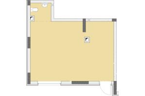 ЖК Нивки-Парк: свободная планировка квартиры 42.27 м²