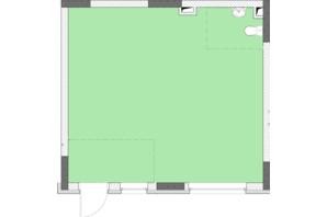 ЖК Нивки-Парк: свободная планировка квартиры 44.1 м²