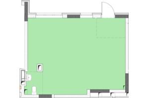 ЖК Нивки-Парк: свободная планировка квартиры 44.72 м²