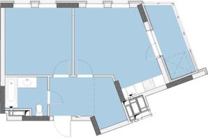 ЖК Нивки-Парк: планировка 1-комнатной квартиры 49.21 м²