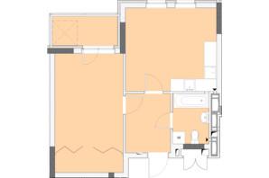 ЖК Нивки-Парк: планировка 1-комнатной квартиры 49.88 м²