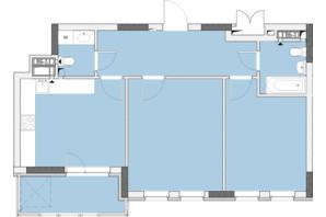 ЖК Нивки-Парк: планировка 2-комнатной квартиры 64 м²