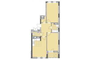 ЖК Нивки-Парк: планировка 2-комнатной квартиры 71.61 м²
