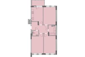 ЖК Нивки-Парк: планировка 3-комнатной квартиры 82.8 м²