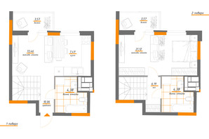 ЖК Нивки-Парк: планировка 2-комнатной квартиры 74.22 м²