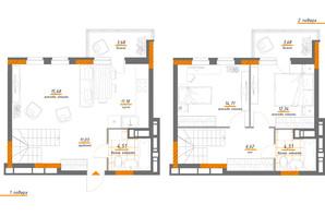 ЖК Нивки-Парк: планировка 3-комнатной квартиры 87.94 м²
