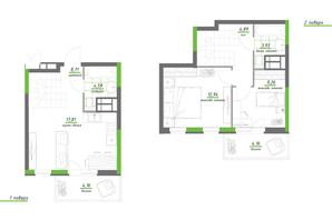 ЖК Нивки-Парк: планировка 2-комнатной квартиры 70.44 м²