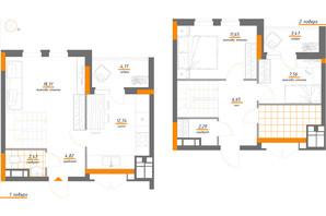 ЖК Нивки-Парк: планування 3-кімнатної квартири 78.9 м²