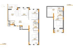 ЖК Нивки-Парк: планування 4-кімнатної квартири 116.74 м²