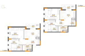 ЖК Нивки-Парк: планування 4-кімнатної квартири 119.52 м²