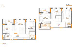 ЖК Нивки-Парк: планування 5-кімнатної квартири 122.2 м²