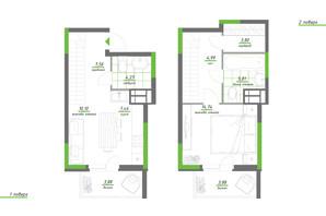 ЖК Нивки-Парк: планування 1-кімнатної квартири 66.45 м²