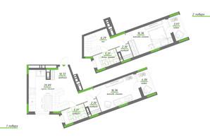 ЖК Нивки-Парк: планування 2-кімнатної квартири 93.96 м²