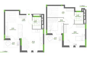 ЖК Нивки-Парк: планування 3-кімнатної квартири 95.88 м²