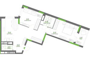 ЖК Нивки-Парк: планування 2-кімнатної квартири 69.9 м²