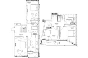 ЖК O2 Residence: планировка 4-комнатной квартиры 124.7 м²
