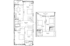 ЖК O2 Residence: планировка 5-комнатной квартиры 132.95 м²