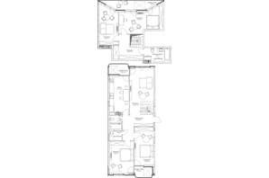 ЖК O2 Residence: планировка 5-комнатной квартиры 146.04 м²