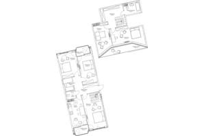 ЖК O2 Residence: планировка 5-комнатной квартиры 146.46 м²