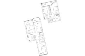 ЖК O2 Residence: планировка 4-комнатной квартиры 112.02 м²