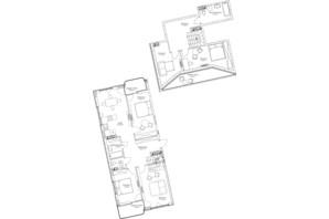 ЖК O2 Residence: планировка 5-комнатной квартиры 139.49 м²