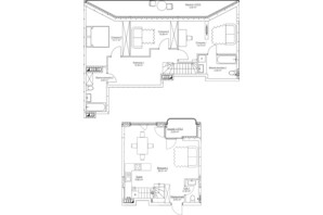 ЖК O2 Residence: планування 4-кімнатної квартири 109.77 м²