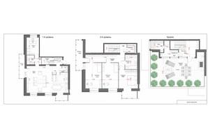 ЖК Oasis: планировка 4-комнатной квартиры 209 м²