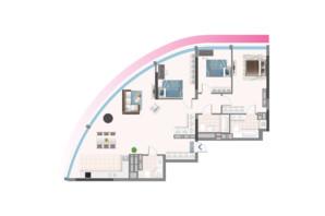 ЖК Oasis: планировка 3-комнатной квартиры 133.7 м²
