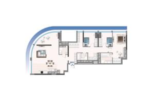 ЖК Oasis: планировка 4-комнатной квартиры 144.13 м²