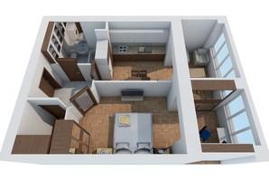 ЖК Обуховский ключ: планировка 1-комнатной квартиры 49.44 м²