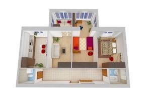 ЖК Обуховский ключ: планировка 3-комнатной квартиры 79.31 м²