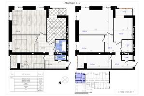 ЖК Одеська Чайка: планування 3-кімнатної квартири 89.69 м²