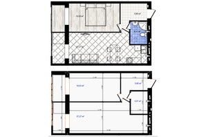 ЖК Одеська Чайка: планування 1-кімнатної квартири 56.16 м²