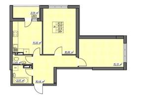 ЖК Одеські традиції: планування 2-кімнатної квартири 62.73 м²