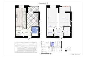 ЖК Одесская Чайка: планировка 1-комнатной квартиры 42.3 м²