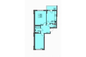 ЖК Одесские традиции: планировка 2-комнатной квартиры 58.84 м²
