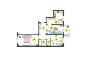 ЖК Олексіївський: планування 3-кімнатної квартири 73.65 м²