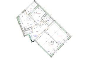ЖК Олімпійський: планування 3-кімнатної квартири 83.97 м²
