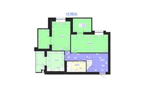 ЖК Олімпійський: планування 5-кімнатної квартири 165 м²