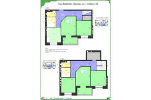 ЖК Олімпійський: планування 5-кімнатної квартири 118.07 м²