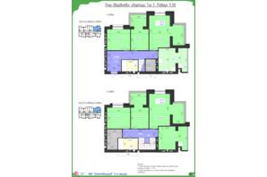 ЖК Олімпійський: планування 7-кімнатної квартири 151.44 м²